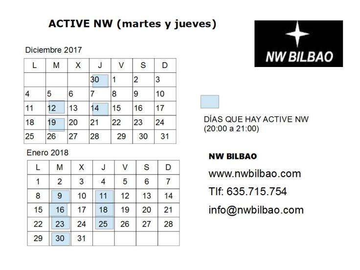calendario active dic 17 ene18