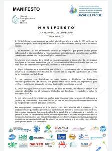 manifiesto día internacional del linfedema 2020
